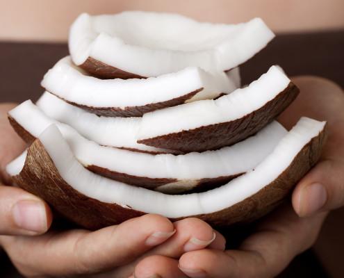 Coconut cream body wrap