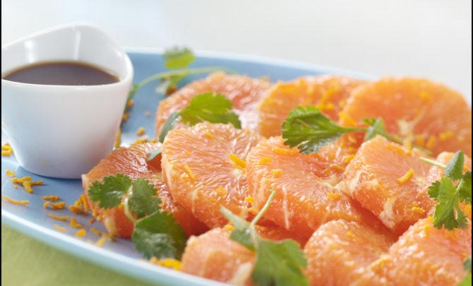 Spicy Orange Salad-Great Kick start of a calming week